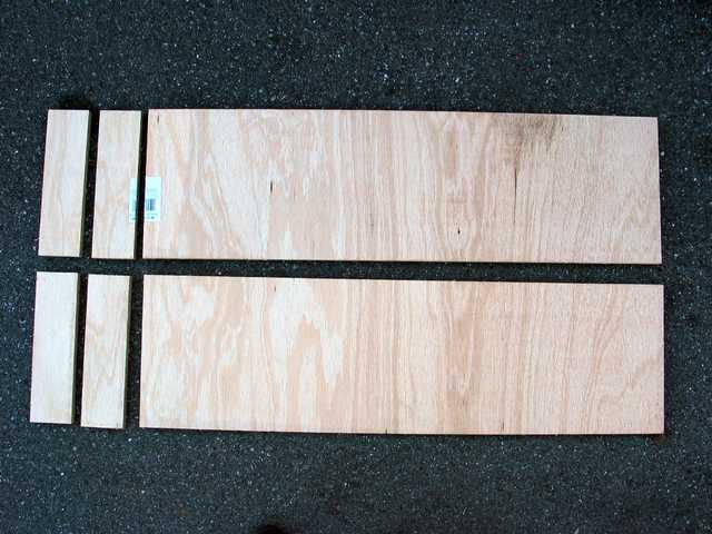 Step 1: Cut plywood into two strips and cut off stoppers