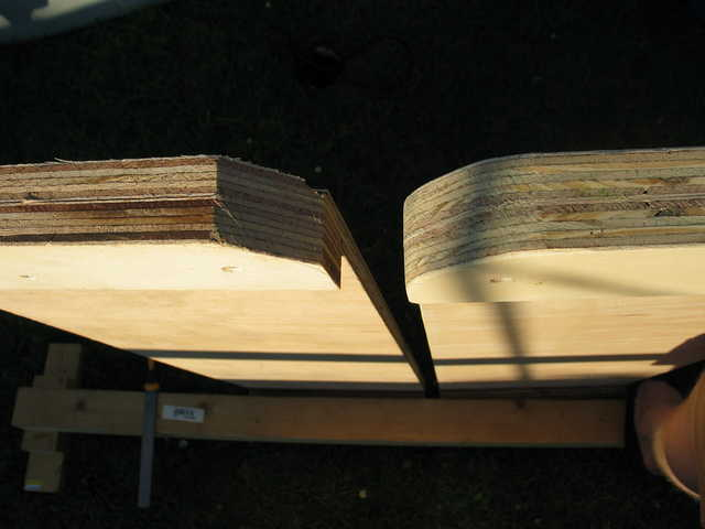 Step 10b: Rounded and sanded corner