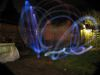 SX11042 Jenni demonstrating diy glowin in the dark poi in the back garden