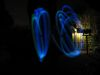 SX11046 Jenni demonstrating diy glowin in the dark poi in the back garden