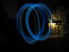 SX11049 Jenni demonstrating diy glowin in the dark poi in the back garden